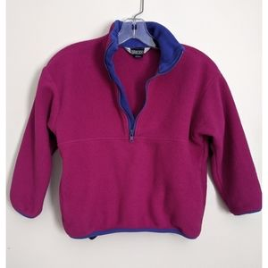 Land's End Kids Half Zip Purple Fleece Pullover
